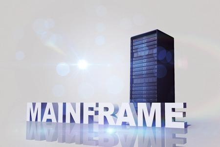 mainframe: mainframe against server tower