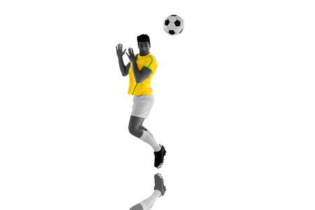 mirror: Football player against mirror