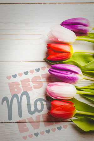 ever: best mom ever against tulips on table