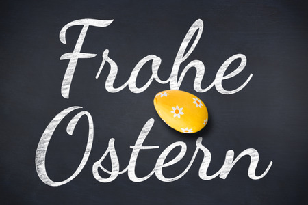 frohe: Easter egg against frohe ostern