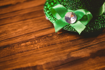 saint patty: St patricks day hat on wooden table Stock Photo