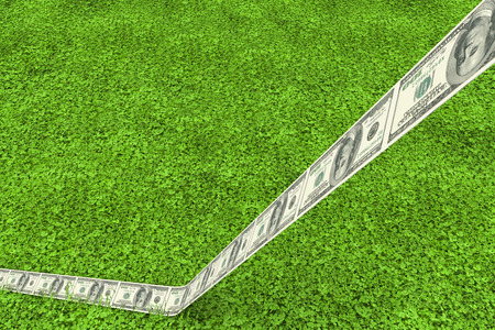 astro: Dollar road against astro turf surface