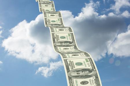bumpy: Bumpy dollar road against cloudy sky Stock Photo
