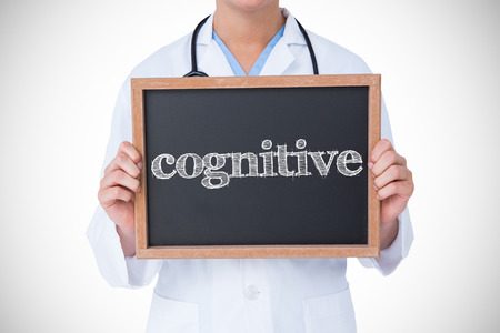 cognitive: The word cognitive against doctor showing little blackboard