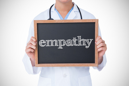 empatia: La palabra empat�a contra doctor que muestra la peque�a pizarra