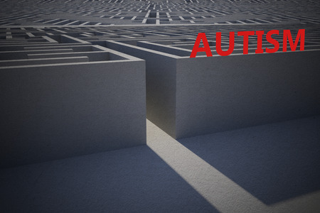 difficult: autism against entrance to difficult maze puzzle
