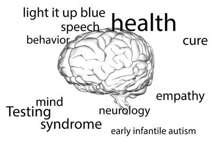 infantile: autism terms against brain