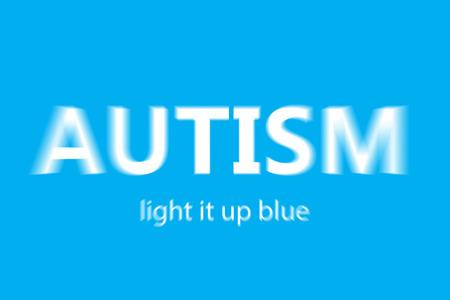 vignette: autism against blue background with vignette