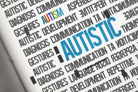 autistic: The word autistic against open book