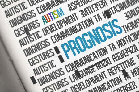 prognosis: The word prognosis against open book