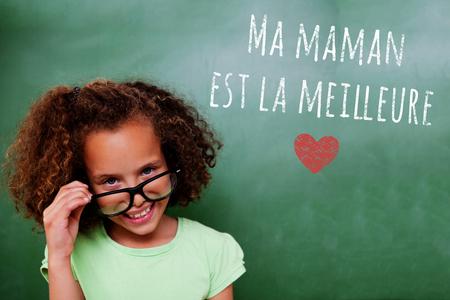 tilting: Cute pupil tilting glasses against green