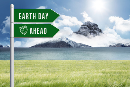 ahead: earth day ahead against scenic backdrop