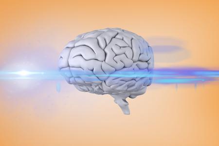 vignette: brain against orange vignette
