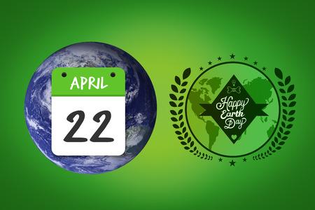 vignette: april 22nd against green vignette Stock Photo