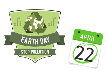 stop pollution: april 22nd against earth day graphic