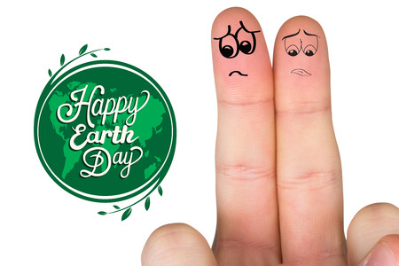 wistfulness: Sad fingers against earth day graphic