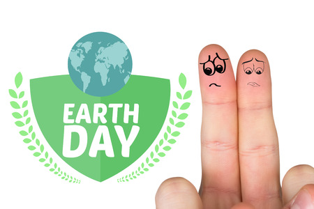 dreariness: Sad fingers against earth day graphic