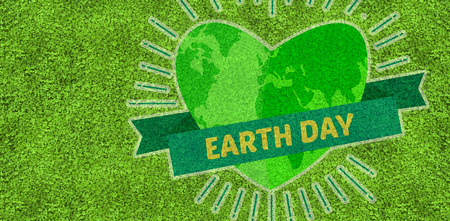 astro: Earth Day Graphic against astro turf surface