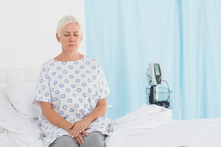 examination room: a patient waiting for a doctor in the examination room Stock Photo