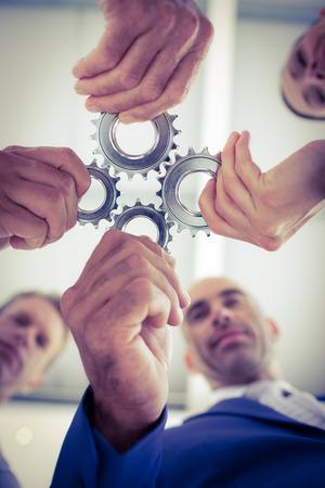 solucion de problemas: Personas del asunto que resolver un problema en la oficina