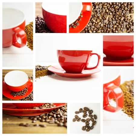 granule: coffee against coffee and mug