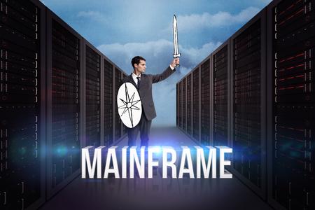 mainframe: Corporate warrior against mainframe Stock Photo