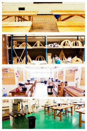 carpenter's bench: workshop against workshop