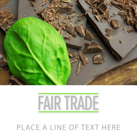 temptations: fair trade against chocolate and basil Stock Photo