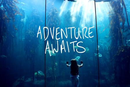 fish tank: aventura le espera contra ni�a que mira la pecera