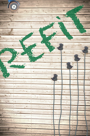 refit: The word refit against plugs on wooden background