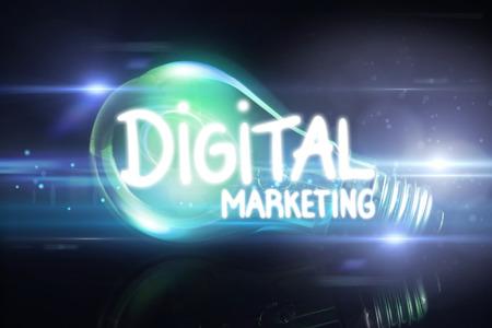 glowing light bulb: digital marketing against glowing light bulb