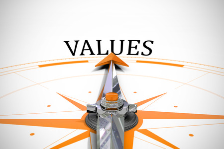 The word values against compass