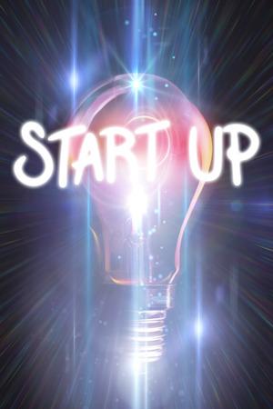 glowing light bulb: start up against glowing light bulb