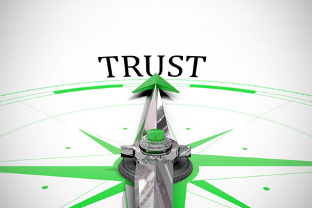 buzzword: The word trust against compass