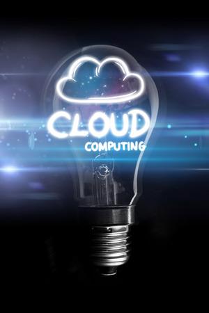 glowing light bulb: cloud computing against glowing light bulb