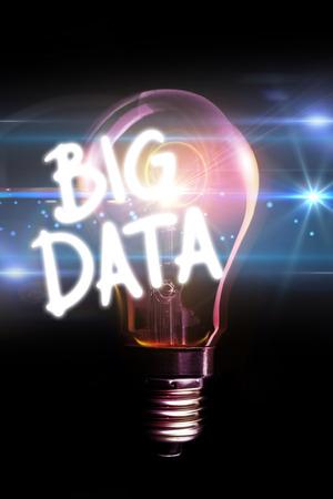 glowing light bulb: big data against glowing light bulb
