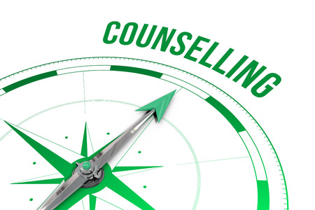 counselling: The word counselling against compass