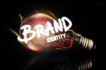 brand identity: brand identity against glowing light bulb