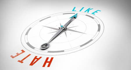 hate: Compass against like and hate