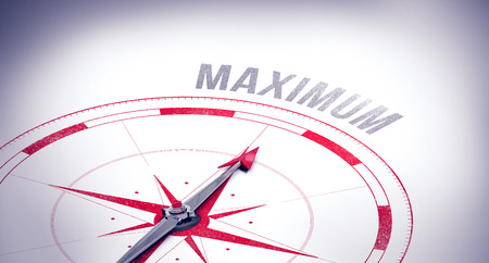 maximum: The word maximum against compass