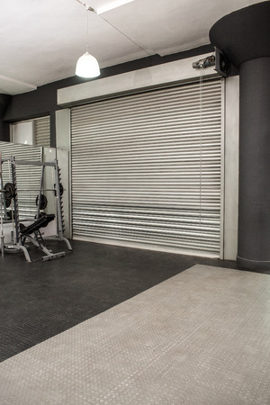 exercise room: Exercise room with shutters in the crossfit gym