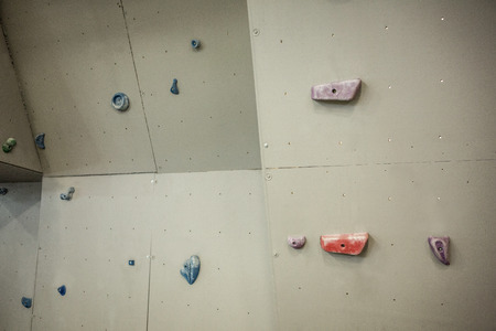 gritty: Rock climbing wall in crossfit gym