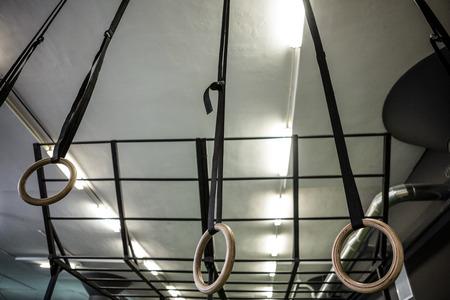 crossfit: Gymnastic rings differentiating between height in crossfit gym