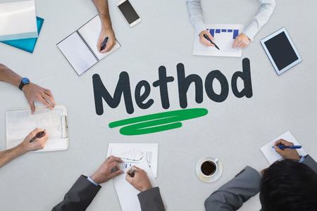 method: The word method against business meeting