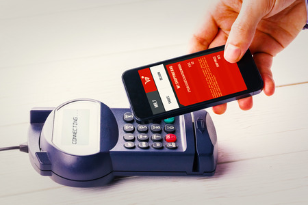 pin entry: website design against mobile payment Stock Photo