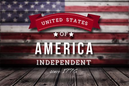 independencia: Gr�fico Independencia d�a contra la bandera nacional EE.UU.