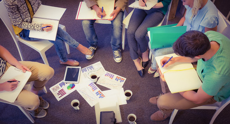 casual business: Business people in meeting at the office