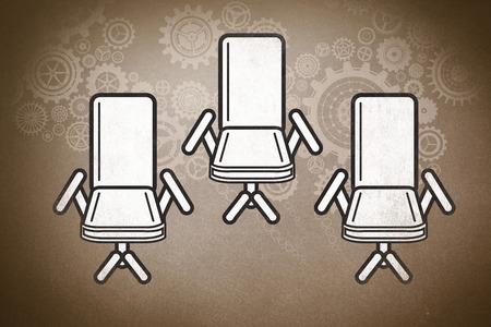 swivel chair: swivel chair against grey