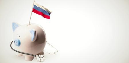 finacial: Digitally generated russia national flag against white background with vignette