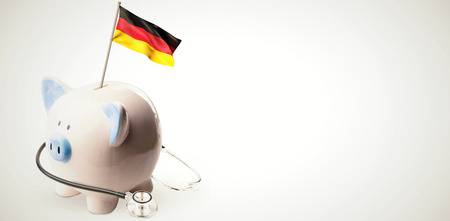finacial: Digitally generated german national flag against white background with vignette Stock Photo